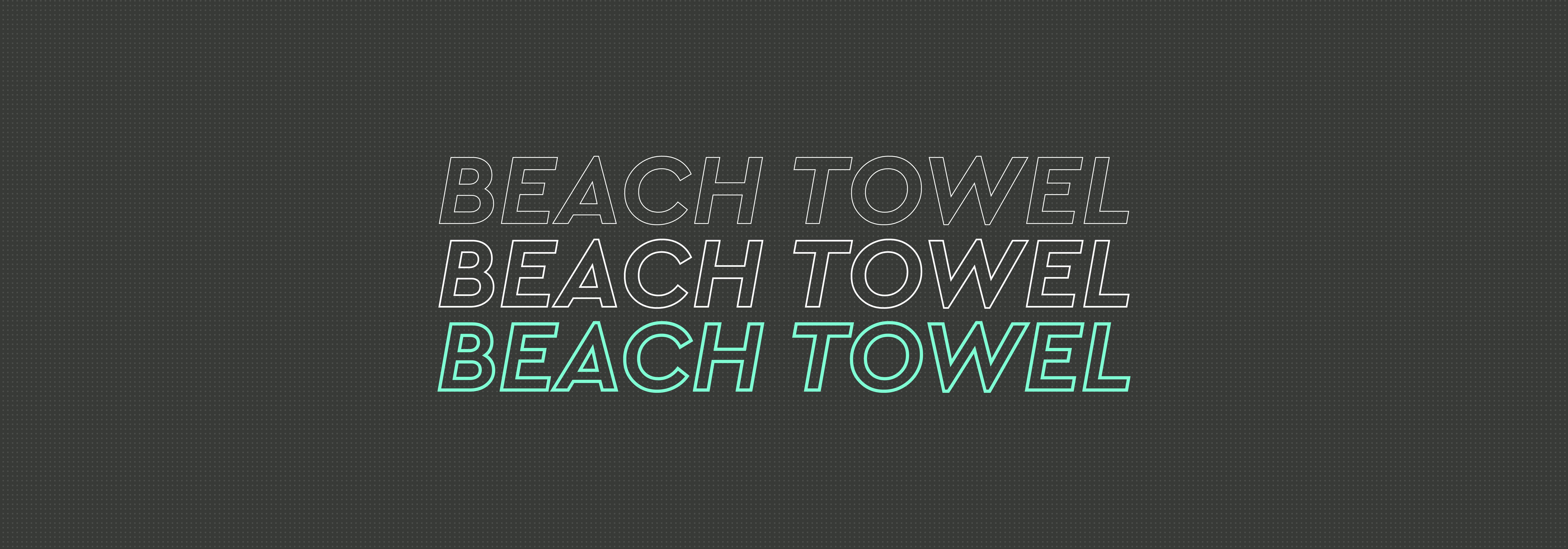 Dye-Sublimated Beach Towel