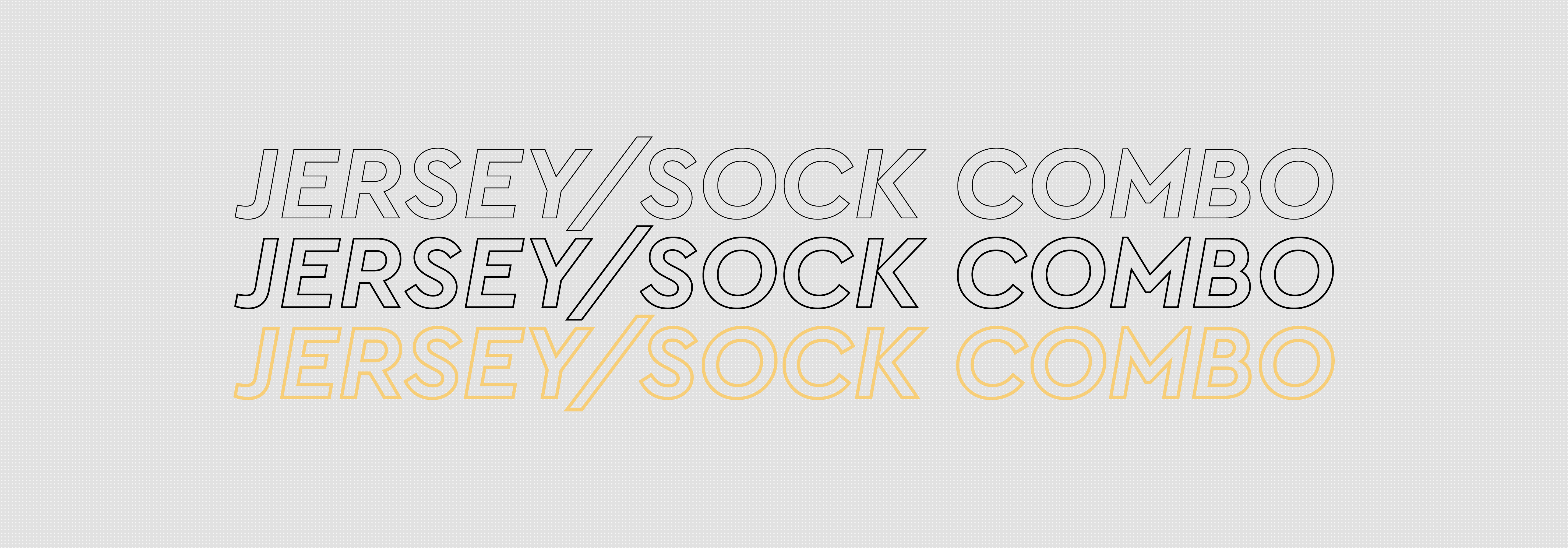 Ozone White Jersey/Sock Combo